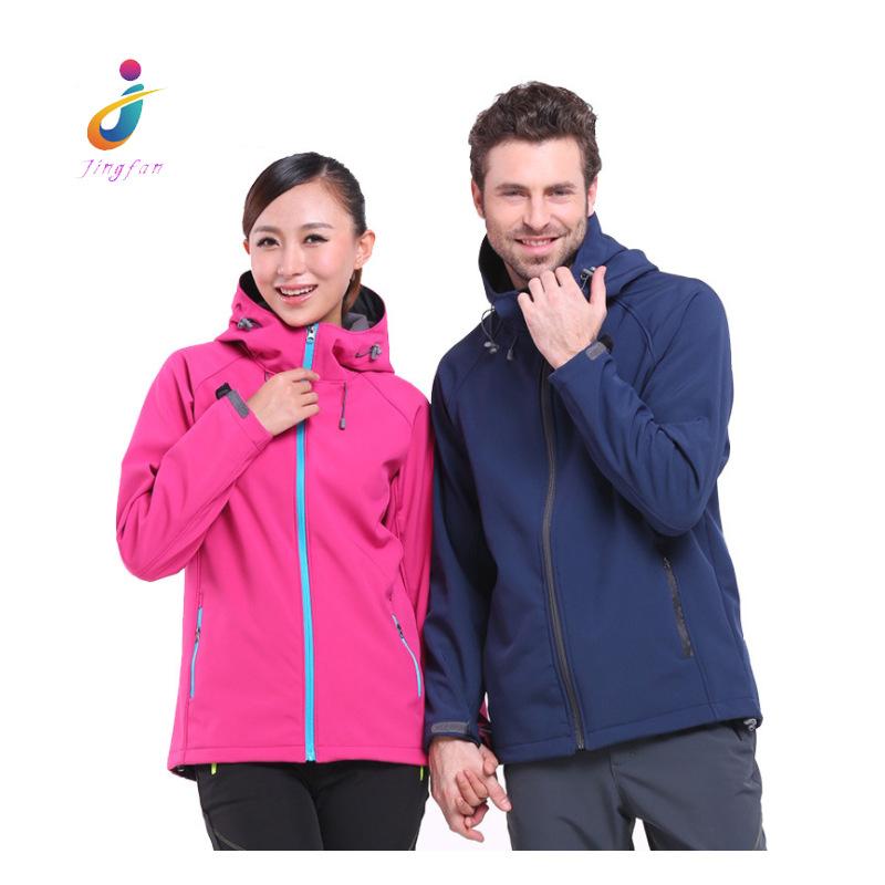 Lót nỉ Soflshell Nhà máy bán buôn vài chiếc áo khoác vỏ mềm ngoài trời mùa thu và mùa đông một lớp l