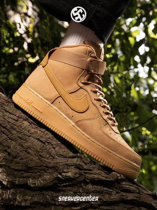 Nike Giày Sneaker / Giày trượt ván Nike nike Air Force 1 AF1 màu lúa mì không khí cao cấp số 1 nam v