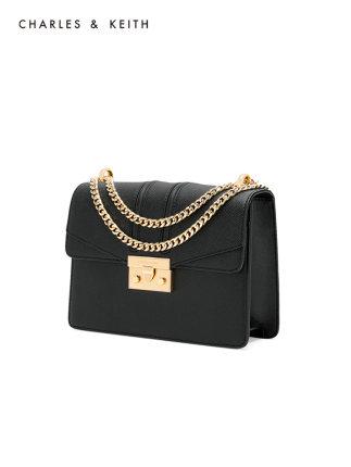 CHARLES & KEITH  Túi xách nữ thời trang  CHARLES & KEITH Bacchus CK2-20680639 chuỗi khóa vai đơn đeo