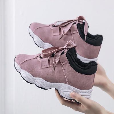 Thị trường giày nữ Giày mùa đông 2019 mới của phụ nữ đế bằng phẳng ấm áp cộng với giày thể thao nhun