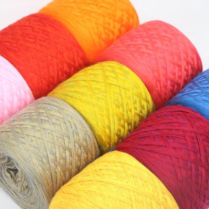 HYGR Sợi dệt  Sợi tơ tằm vàng đầy màu sắc kim dệt kim kim len dày len bé sợi bông đa sợi trẻ em sợi