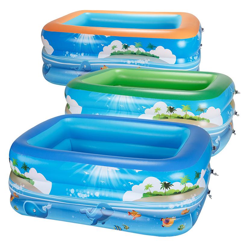 DMYB - bể bơi bơm hơi hình chữ nhật cho bé .