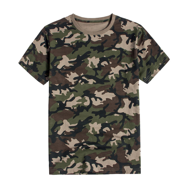 Áo nguỵ trang lính Nhà máy bán buôn quần áo ngụy trang rừng rậm nam nữ áo thun ngắn tay đào tạo quân
