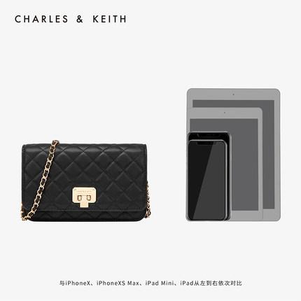 CHARLES & KEITH  Túi xách nữ thời trang  Túi đeo chéo hình thoi CHARLES & KEITH CK2-70700460 túi đeo