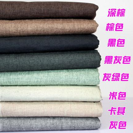 JINTU  Vải Linen Một nửa giá vải lanh màu cam vải tre gai vải sofa bìa vải sofa vải đệm bông và vải