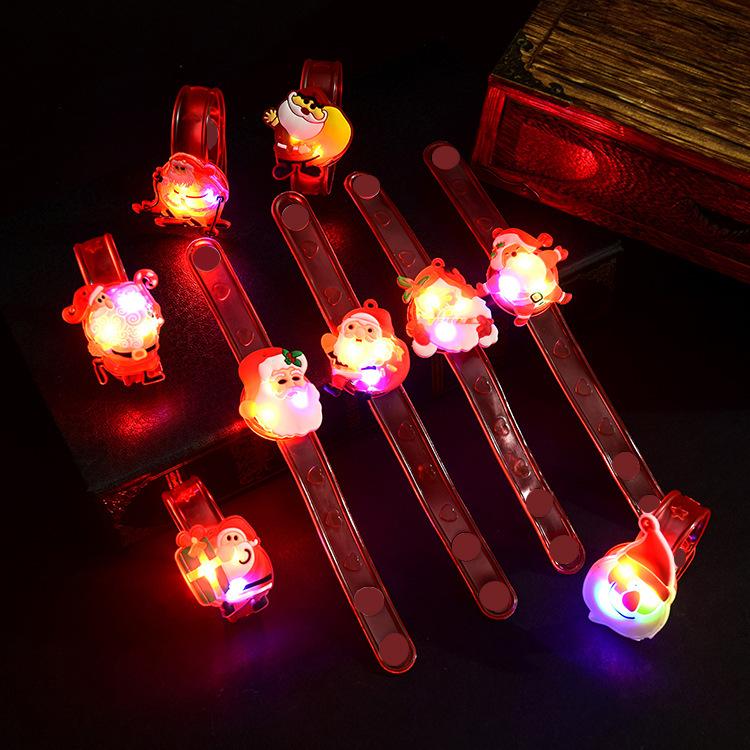 MOHAN Đồ chơi phát sáng Nhà sản xuất bán buôn đồ chơi trẻ em Giáng sinh led silicone đầy màu sắc dạ