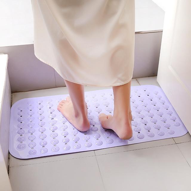 RONGLING Đệm chân Túi giúp 1401 phòng tắm chống trượt thảm tắm vòi sen lớn với cốc hút chân massage