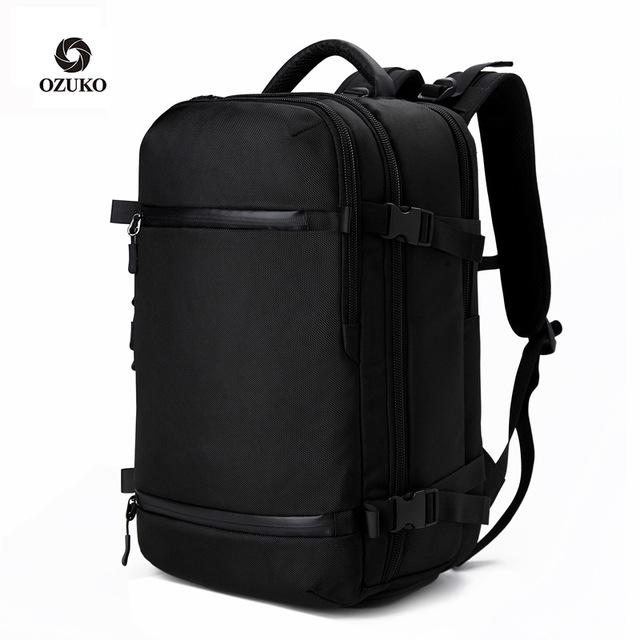 OZUKO thị trường túi - Vali Túi đeo băng đô New Oxford vải đeo vai Túi ngoài trời đa chức năng USB đ