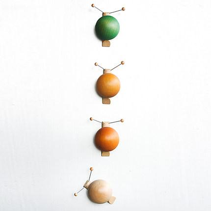 EMO Sắt từ Nam châm tủ lạnh sáng tạo nam châm văn phòng màu sắc dễ thương hoạt hình ốc sên Mạnh 3d n