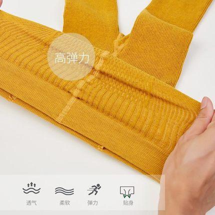 AIMIANFANG Vải dệt kim  Mô hình mùa xuân và mùa thu của trẻ em dẫm lên chân xà cạp đan len không rơi