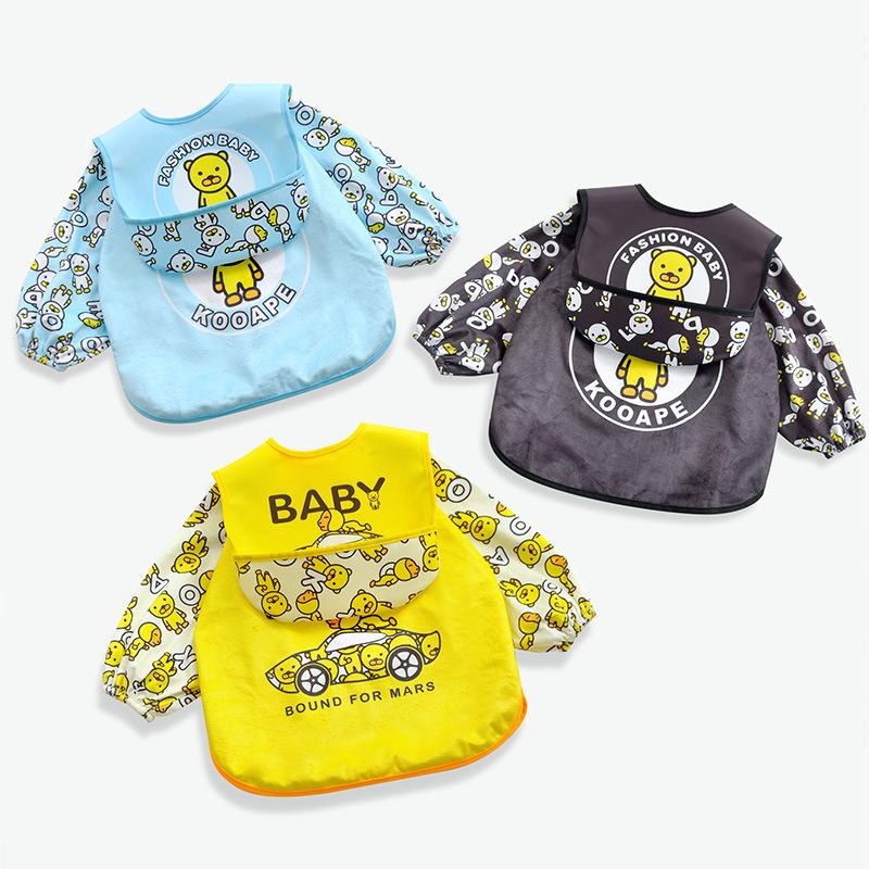Kooape Áo khoác Quần yếm trẻ em mùa xuân và mùa thu em bé chống thấm nước quần áo bữa ăn trẻ em túi