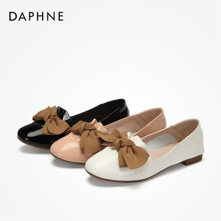 Daphne  Giày da một lớp   Daphne / Daphne 2019 nơ mùa thu trang trí giày Lok Fu Giày Mary Jane tròn