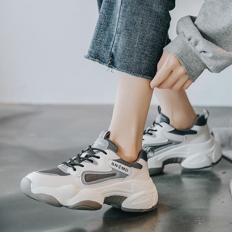 Thị trường giày nữ Túi tóc giúp giày cũ nữ 2019 thu đông mới Giày lưới màu đỏ thủy triều hoang dã ph