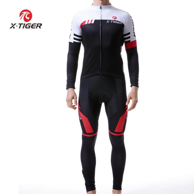 Quần áo mau khô X-tiger Jersey Dây đeo nam Thiết lập mùa thu Xe đạp leo núi Xe đạp nhanh khô Quần áo