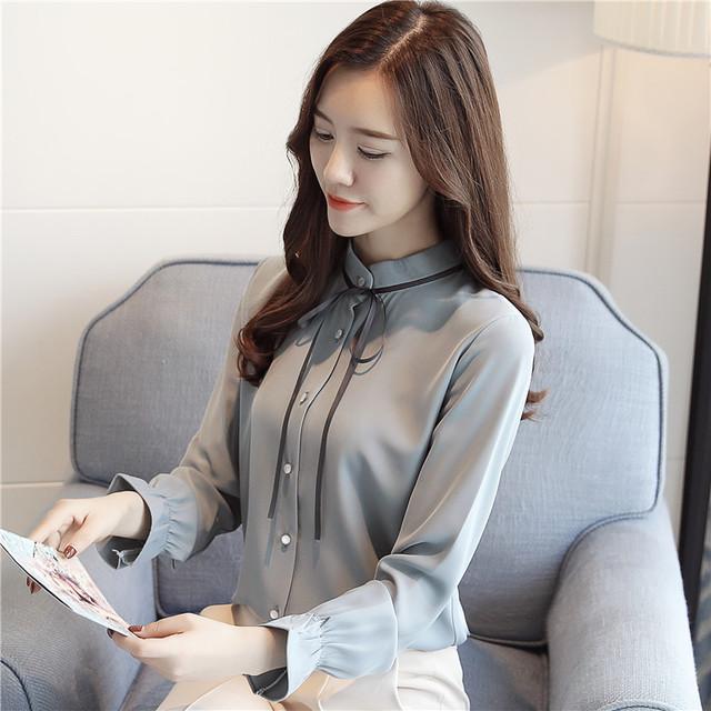 hàng chất lượng cao Cộng thêm áo voan nhung đáy dài tay đầm nữ 2019 mới sóng thu đông thu đông thời