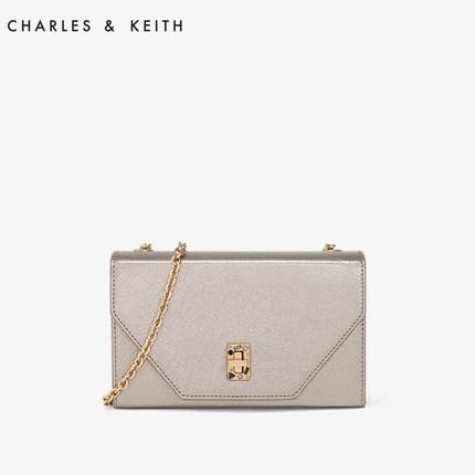 CHARLES & KEITH  Túi xách nữ thời trang  CHARLES & KEITH túi vuông nhỏ CK2-70700750 đá bán kim loại