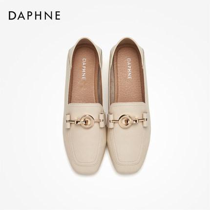 Daphne  Giày da một lớp   Giày Da Fu Ni Lok Fu nữ 2019 mùa thu mới hai đôi giày da nhỏ nữ gió Anh đế