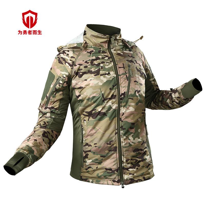 CEMA Áo nguỵ trang lính Zema ngoài trời áo khoác ngụy trang cộng với nhung siêu nhẹ quần áo ấm leo n
