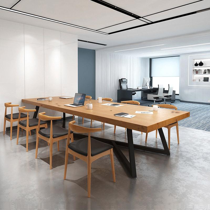ZHONGAN Nội thất Đơn giản hiện đại văn phòng bàn gỗ rắn Studio văn phòng đồ nội thất máy tính bàn cô