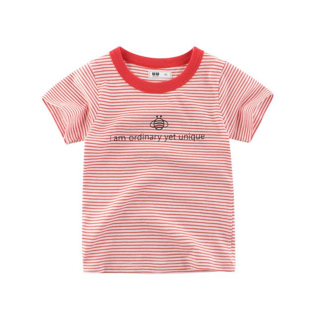 27KIDS Phong cách Hàn Quốc Túi tóc giúp quần áo trẻ em Hàn Quốc mới 2019 hè trẻ em ngắn tay áo thun