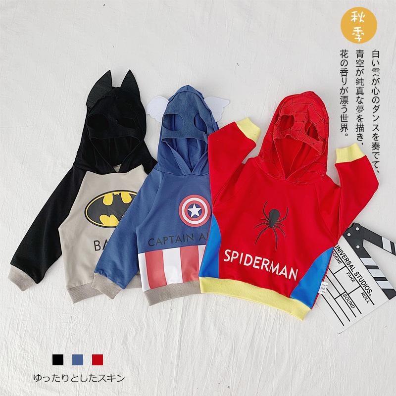 Sweater (Áo nỉ chui đầu) 19 mùa thu mới của trẻ em Hàn Quốc áo len hoạt hình mặt nạ áo trùm đầu bé t