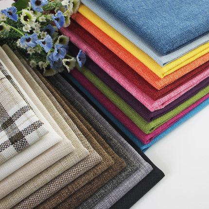 JINTU  Vải Linen Vải lanh một nửa vải lanh vải bố cũ thô vải bọc vải sofa vải thủ công vật liệu vải