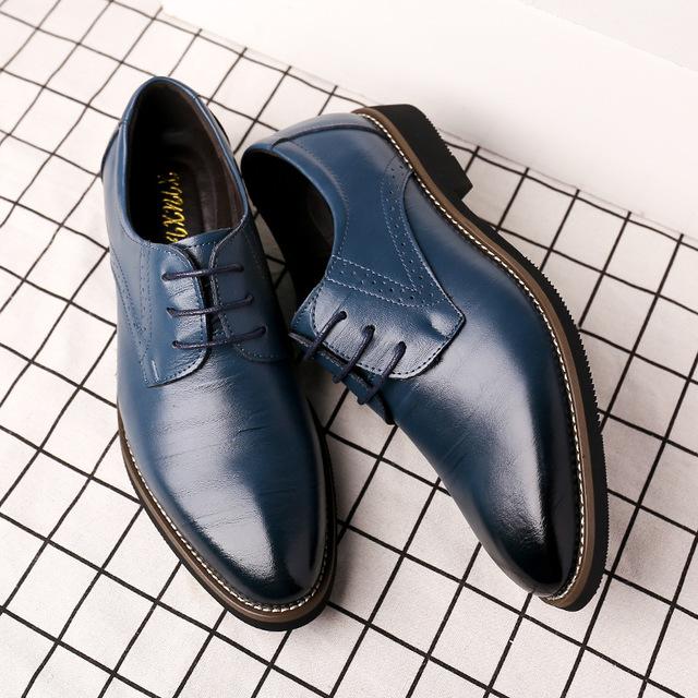 thị trường giày nam Túi tóc giúp mùa thu 2018 giày nam mới thời trang giày công sở nhiều màu sắc Già