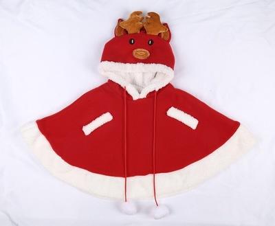 Áo choàng trẻ em  Dịch vụ Giáng sinh cho trẻ em Cape Cloak Cape Longhorn Elk Boy Quần áo Giáng sinh