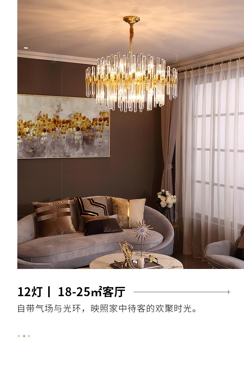 Đèn treo trần Full đồng bài hiện đại ánh sáng sang trọng đèn chùm phong cách Hồng Kông phòng khách p