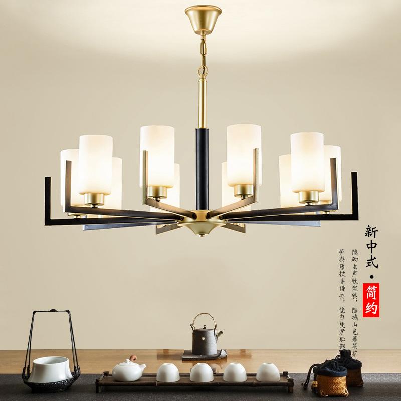 Đèn treo trần Mới phong cách Trung Quốc phòng khách đèn chùm hiện đại tối giản nhà hàng phòng ngủ đè