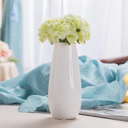 Bình bông  Bình hoa Gypsophila trang trí phòng khách IKEA sứ trắng nhỏ hoa tươi khô cắm hoa sáng tạo