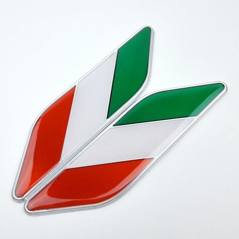 SHUOYUAN Đề can xe hơi Nhà sản xuất bán buôn quốc kỳ ở bên cạnh tấm dán xe ô tô Ý dán hợp kim nhôm k