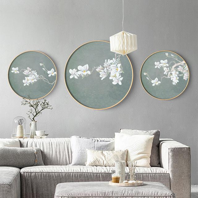 QHCY Tranh trang trí Túi Bang Bang Phòng khách kiểu Trung Quốc mới sơn trang trí hợp kim nhôm khung