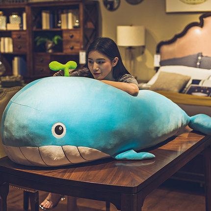 umesong  Búp bê vải  Dễ thương sang trọng cá voi gối đồ chơi cá heo giẻ búp bê búp bê cô gái ngủ búp