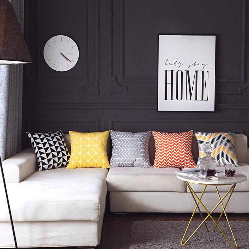 Căn hộ có nệm màu vàng Diêm Vương Đơn giản là sofa màu vàng mịn ở Bắc Âu