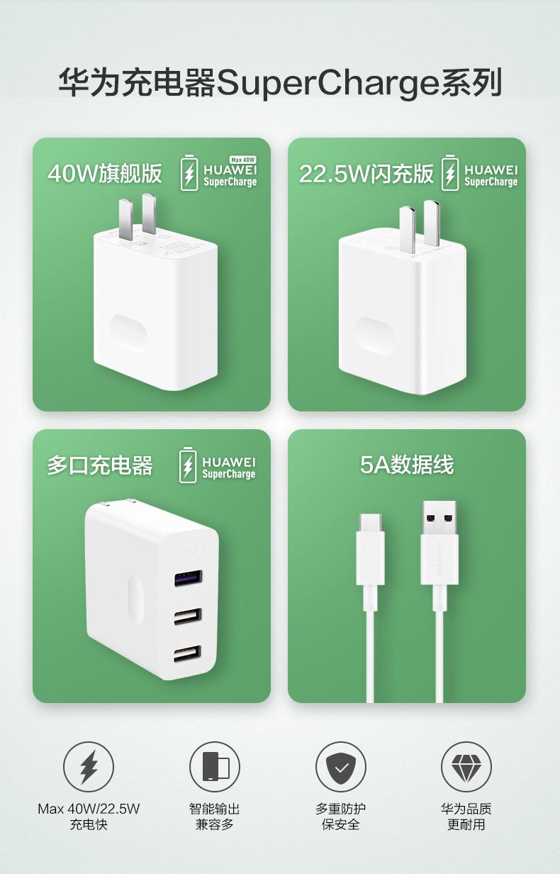 Sạc nhanh Huawei Super Charge sạc nhanh max40W điện thoại di động sạc đa cổng