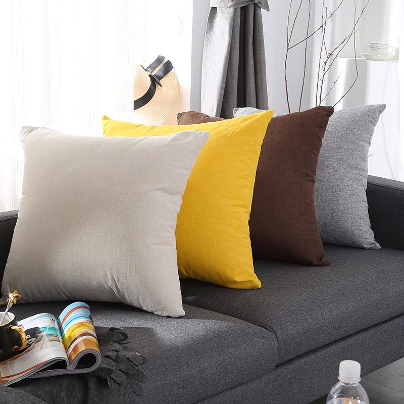 XILAI Gối tựa lưng ins Bắc Âu văn phòng đồng bằng sofa đệm gối dày màu sắc phòng khách nhà lớn đệm b