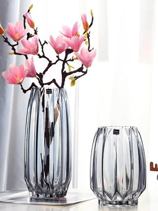 Jianglai Bình bông  Sáng tạo chai thủy tinh lớn trong suốt đầy màu sắc thủy canh phong phú tre lily