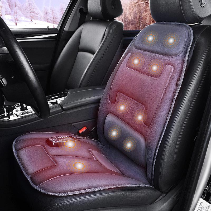 COMFIER Đệm giữ ấm ghế xe sưởi ghế nóng thắt lưng massage đệm