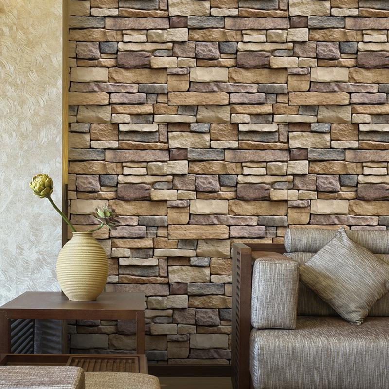 LVKANG Decal dán tường Tự dán tường sticker không thấm nước gạch hình nền gạch SA gạch hoa văn tường