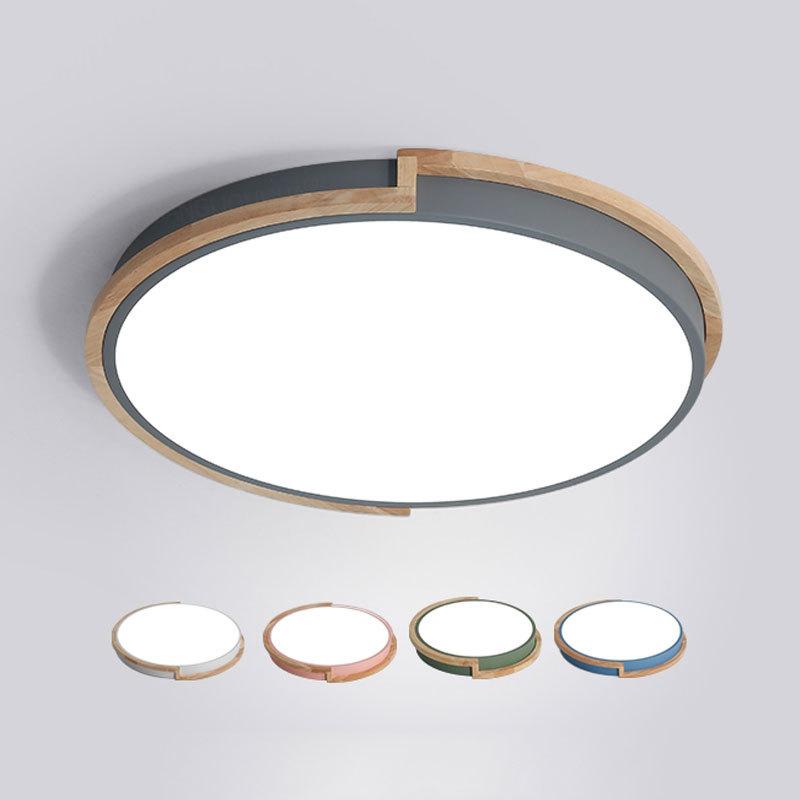 JSMD đèn ốp trần Phòng ngủ Bắc Âu Nghiên cứu ánh sáng trần Đơn giản hiện đại LED hiện đại Đèn đỏ Ban