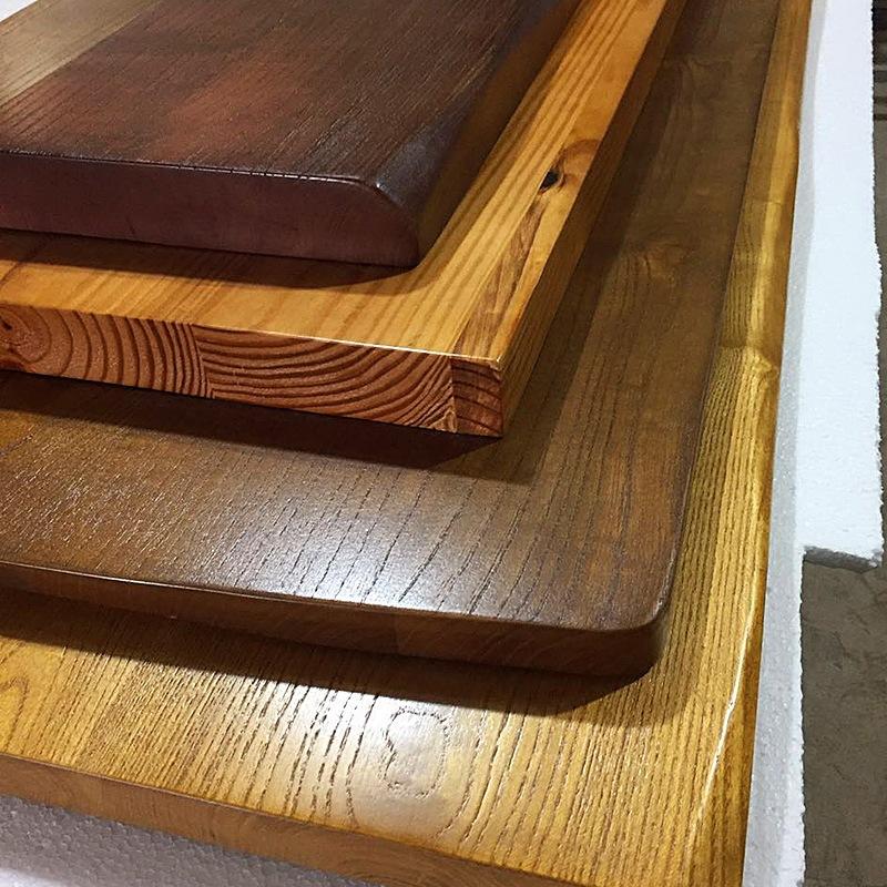 AIGUISHU Ván gỗ Tùy chỉnh tự nhiên cạnh gỗ ván gỗ thông gỗ thông elm tự làm máy tính để bàn nồi lẩu