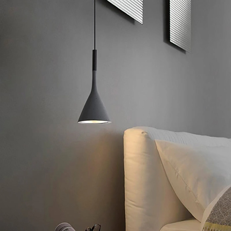 YUEYI Đèn treo trần Bắc Âu đầu giường phòng ngủ nhôm đèn chùm hiện đại đơn giản sáng tạo cá tính nhà