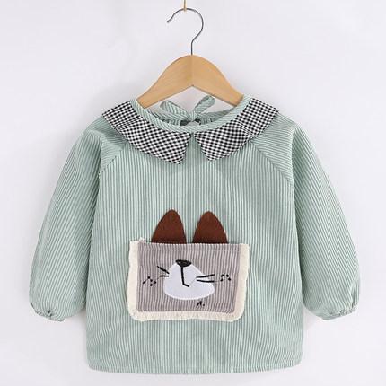 COCOTOWN Áo khoác Áo blouse bé gái dài tay ăn yếm không thấm nước bé trai tạp dề trẻ sơ sinh mùa thu