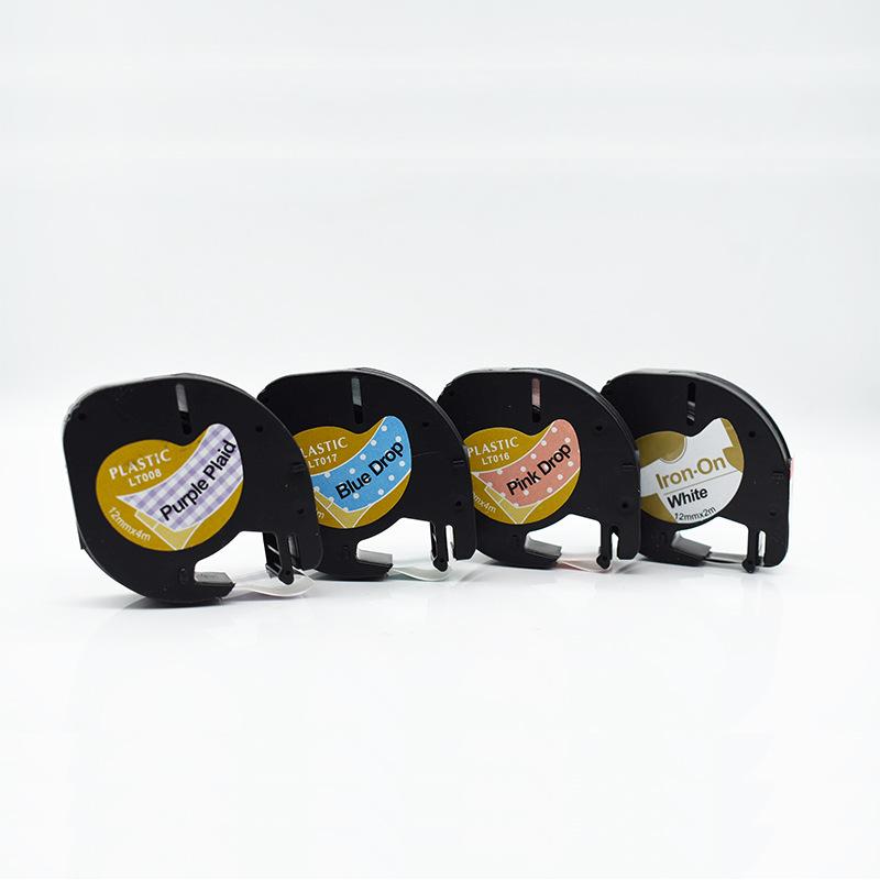 CIDY Ruy băng Áp dụng nhãn Dymo ruy băng letraTAG 12 mm màu đen trên trắng 91201 dễ dán nhãn dán nhã