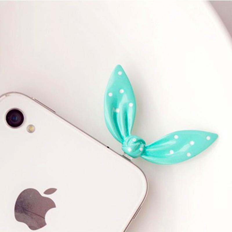Nút cắm chống bụi Đồ nữ trang Hàn Quốc, nhỏ, đơn giản, cắm tai thỏ ngọt ngào, nơ ngọc nước, phích cắ