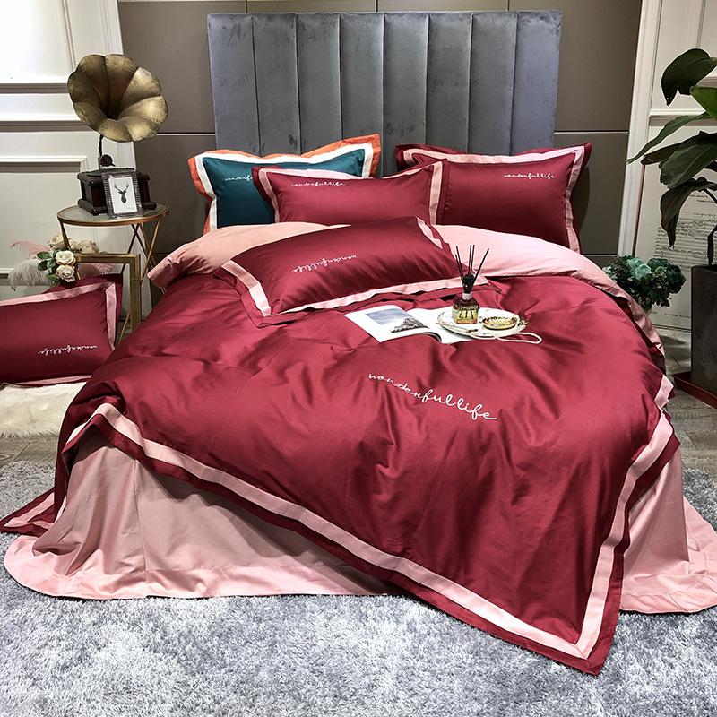 SIRAN Bộ drap giường Thương hiệu Bộ đồ giường yêu thích Vải cotton Mật độ 78x65 Số lượng vải 32 Quy