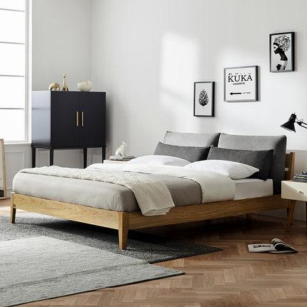 KUKa  giường  Gujia Home giường đôi Bắc Âu có thể tháo rời và có thể giặt kỹ thuật vải vải giường 1,