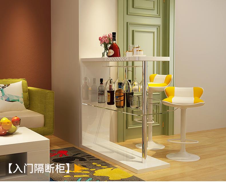 Một mét tình yêu phòng khách đơn giản, bàn bar, vách đá đơn giản, tủ rượu nho nhỏ, ban công, lan can