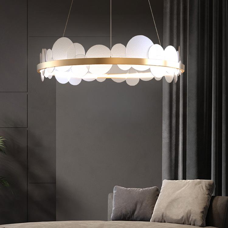 SHANGYA Đèn treo trần Ánh sáng hậu hiện đại sang trọng đèn chùm nhà hàng tối giản không khí phòng ng